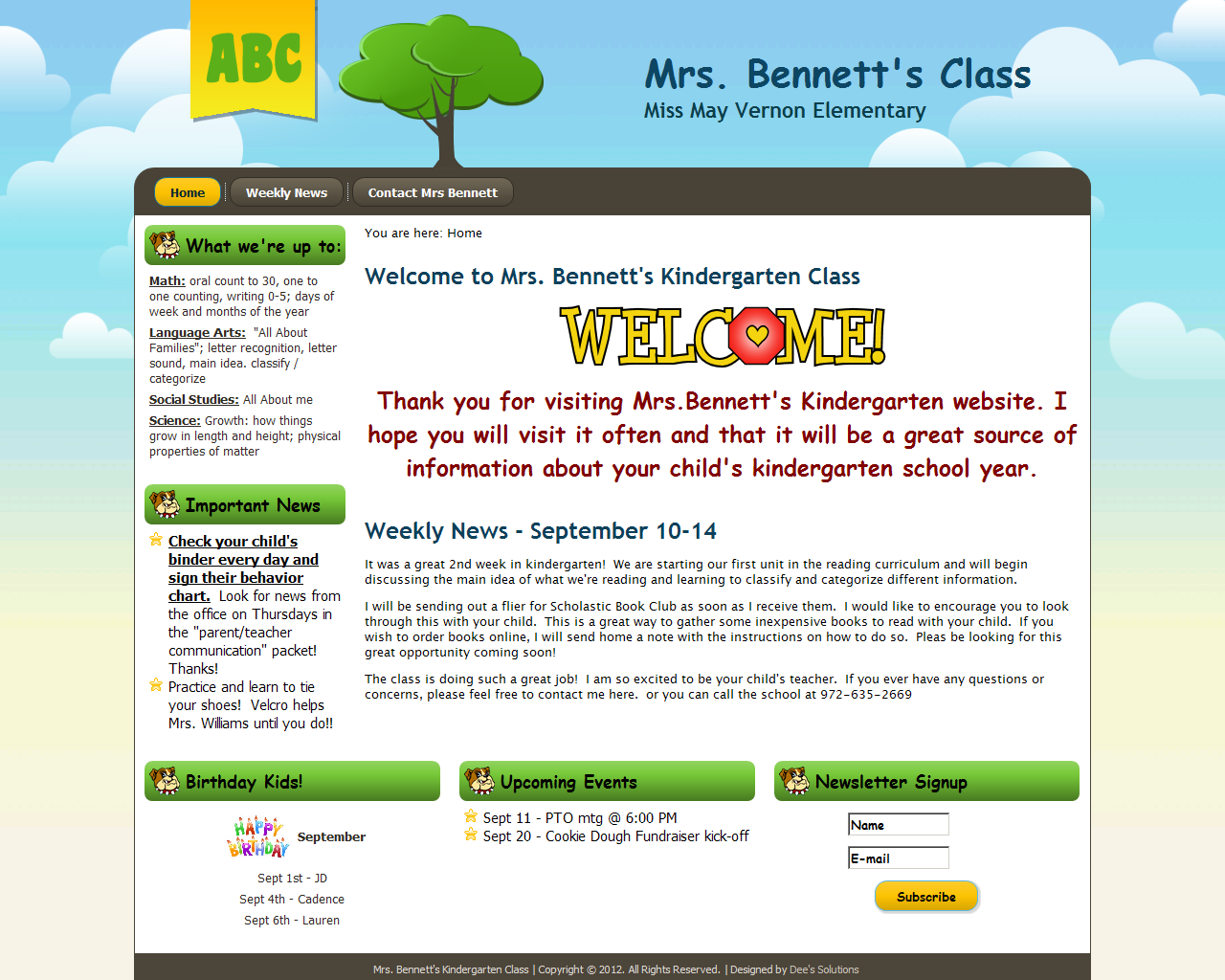 Classroom Design Website ~ Web design portfolio and business branding dee s
